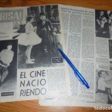 Cine: RECORTE PRENSA : EL CINE COMICO : CHARLOT, HAROLD LLOYD, DANNY KAYE..... RADIOCINEMA , FBRO 1962. Lote 202687063