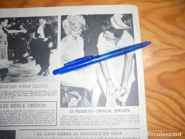 RECORTE PRENSA : TRASPIES DE JAYNE MANSFIELD . RADIOCINEMA , FBRO 1962 (Cine - Revistas - Radiocinema)