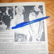 Cine: RECORTE PRENSA : TRASPIES DE JAYNE MANSFIELD . RADIOCINEMA , FBRO 1962. Lote 202687338