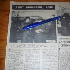 Cine: RECORTE PRENSA : SILVANA MANGANO EN ESPAÑA . RADIOCINEMA , FBRO 1962. Lote 202687632