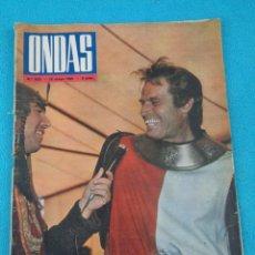 Cine: REVISTA ONDAS - Nº 203 - 1961 - PORTADA CHARLTON HESTON EN EL CID - FESTIVAL CANNES - MATILDE CONESA. Lote 202697450