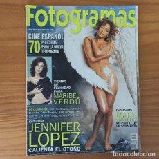 Cine: FOTOGRAMAS 1883 SEPTIEMBRE 2000. MARIBEL VERDU, JENNIFER LOPEZ, MARK WAHLBERG.... Lote 202741233