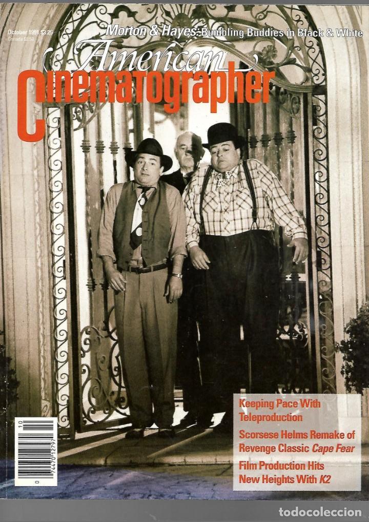 REVISTA EN INGLES AMERICAN CINEMATOGRAPHER OCTUBRE 1991 VOL 72 Nº 10 (Cine - Revistas - Cámara)