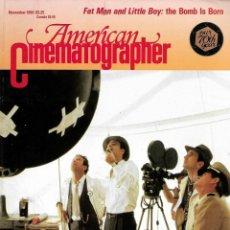 Cine: REVISTA EN INGLES AMERICAN CINEMATOGRAPHER OCTUBRE 1989 VOL 70 Nº 11. Lote 202813878
