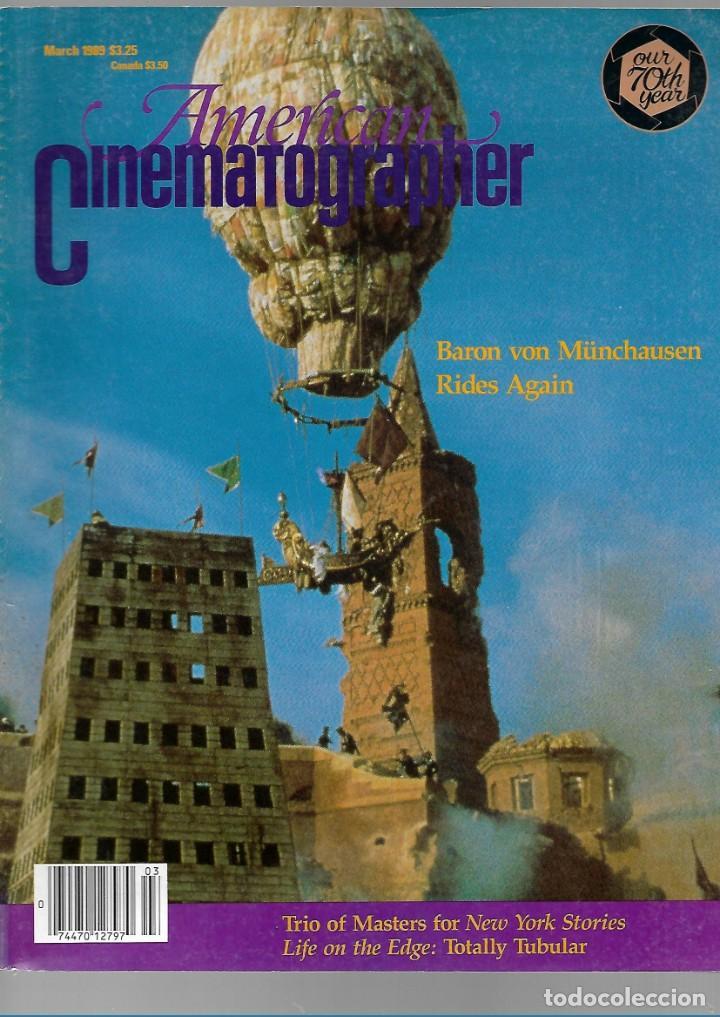 REVISTA EL INGLES AMERICAN CINEMATOGRAPHER SEPTIEMBRE MARZO 1989 VOL 70 Nº 3 (Cine - Revistas - Cámara)