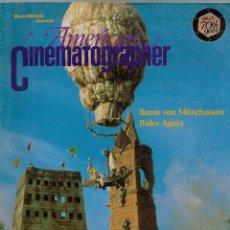Cine: REVISTA EL INGLES AMERICAN CINEMATOGRAPHER SEPTIEMBRE MARZO 1989 VOL 70 Nº 3. Lote 202814932