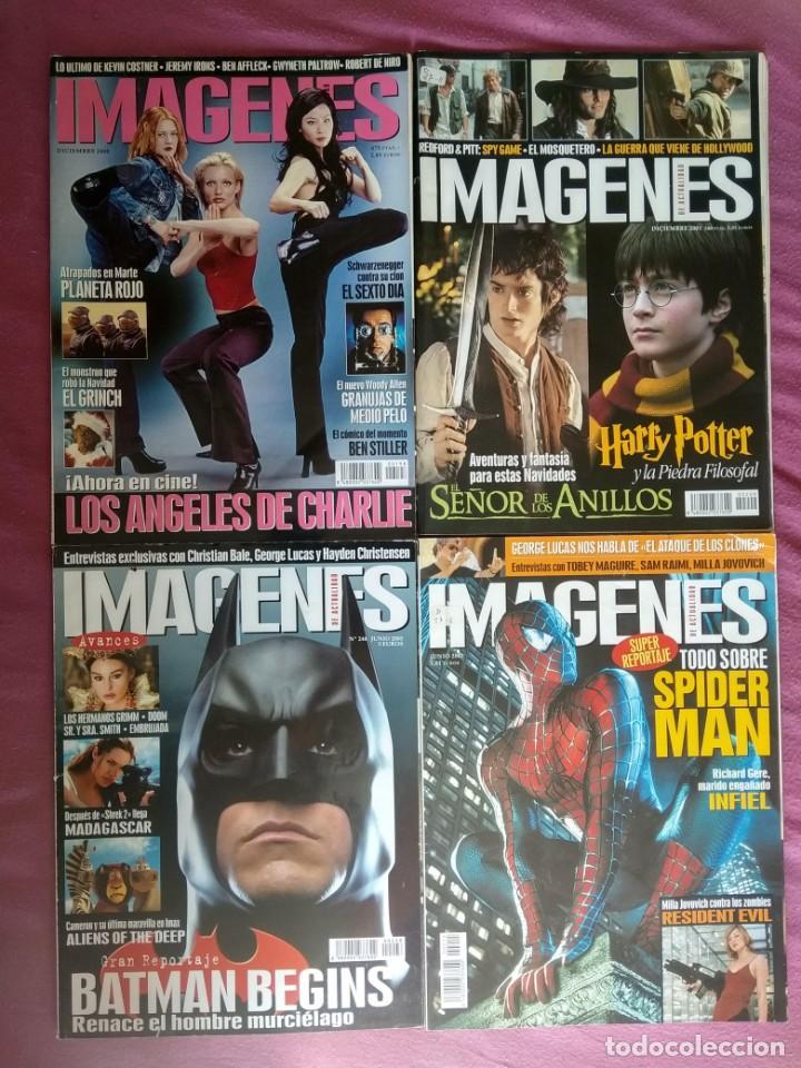REVISTA IMÁGENES DE ACTUALIDAD LOTE Nº 198, 209, 215, 248 (2000, 2001, 2002, 2005) (Cine - Revistas - Imágenes de la actualidad)