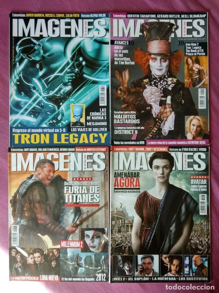 REVISTA IMÁGENES DE ACTUALIDAD LOTE Nº 294 AL 296 (2009) Y 308 (2010) (Cine - Revistas - Imágenes de la actualidad)
