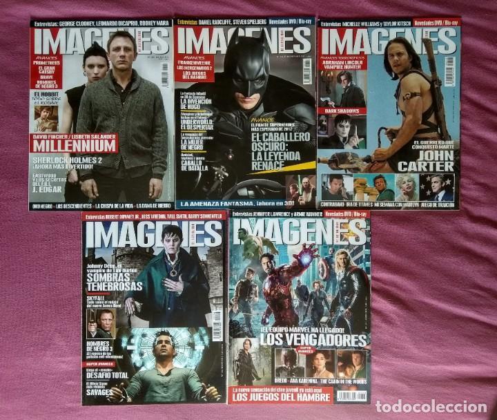 REVISTA IMÁGENES DE ACTUALIDAD LOTE Nº 320 AL 328, 330 (2012) (Cine - Revistas - Imágenes de la actualidad)