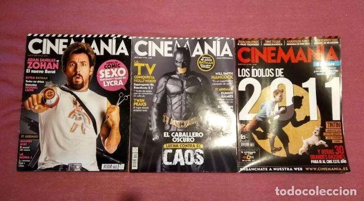 REVISTA CINEMANÍA LOTE Nº 154 155 (2008) Y 184 (2011) (Cine - Revistas - Cinemanía)