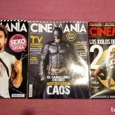 Cine: REVISTA CINEMANÍA LOTE Nº 154 155 (2008) Y 184 (2011). Lote 202907225