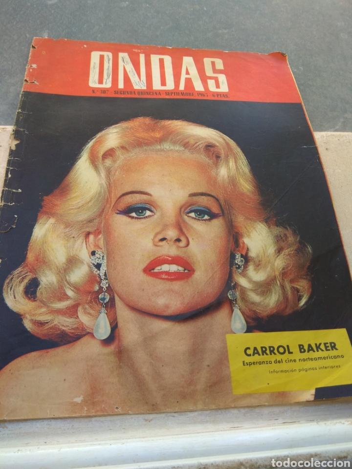 Cine: Portada Revista Ondas con fotografía de Carrol Baker - año 1965 - Sólo Portada - - Foto 4 - 202914943
