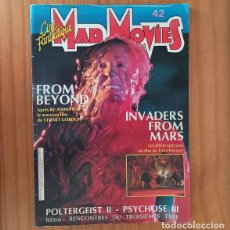 Cine: MAD MOVIES 42 CINE FANTASTIQUE, STUARD GORDON FROM BEYOND, TOBE HOOPER INVADERS FROM MARS.... Lote 202933718
