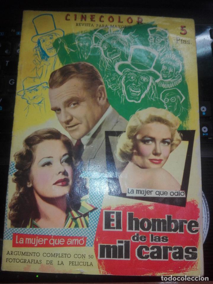 REVISTA CINECOLOR EL HOMBRE DE LAS MIL CARAS (1958) (Cine - Revistas - Cinecolor)