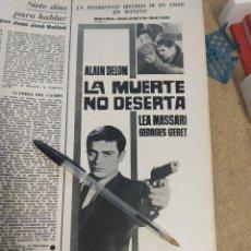 Cine: LA MUERTE NO DESERTA ALAIN DELON LEA MASSARI.. Lote 203583910