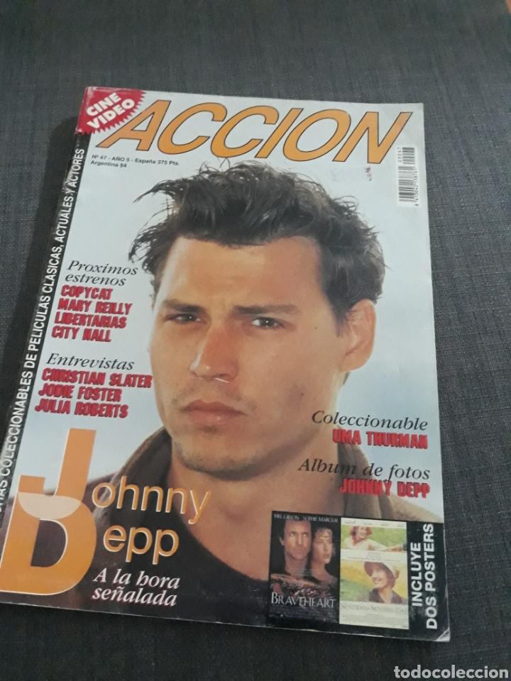 REVISTA ACCION N° 47 JOHNNY DEPP. (Cine - Revistas - Acción)