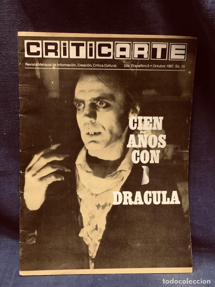 REVISTA CRITICARTE CIEN AÑOS CON DRACULA 2NDA ETAPA N 5 OCTUBRE 1987 VENEZUELA 30X22CMS (Cine - Revistas - Otros)