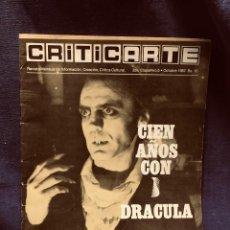 Cine: REVISTA CRITICARTE CIEN AÑOS CON DRACULA 2NDA ETAPA N 5 OCTUBRE 1987 VENEZUELA 30X22CMS. Lote 203827553