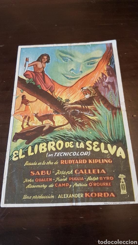 Cine: Programa de mano Cinema Molero Arroyomolinos de Montanchez .el libro de la selva - Foto 2 - 203931328