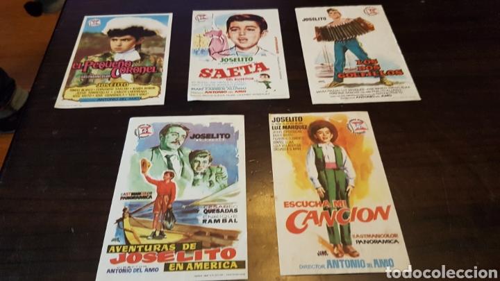 PROGRAMAS DE MANO PELÍCULAS JOSELITO (Cine - Reproducciones de carteles, folletos...)