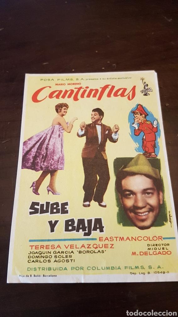 PROGRAMA DE MANO PELICULA SUBE Y BAJA CANTINFLAS (Cine - Reproducciones de carteles, folletos...)