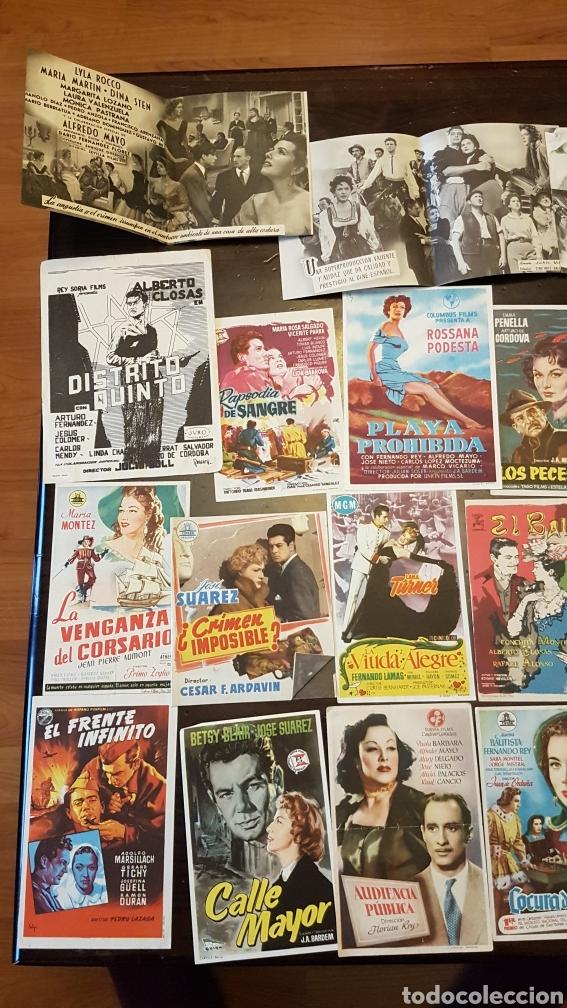 Cine: Lote antiguos programas de mano originales cine español - Foto 2 - 203938015