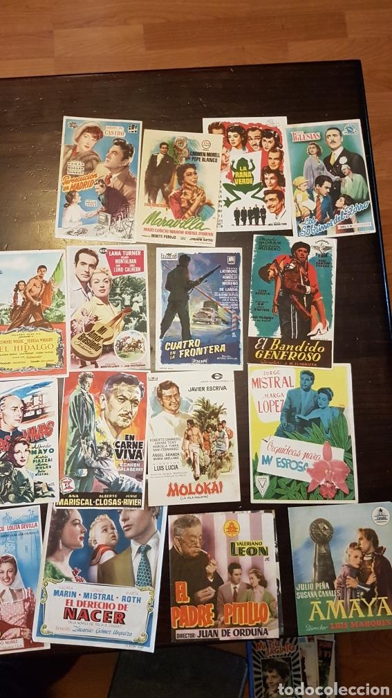 Cine: Lote antiguos programas de mano originales cine español - Foto 4 - 203938015