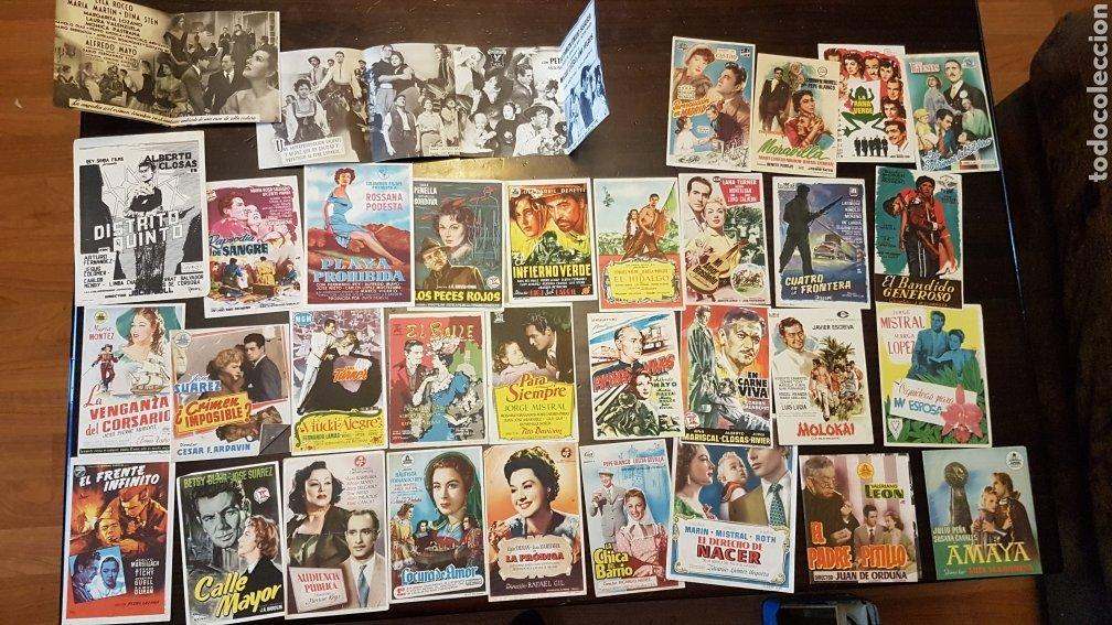 LOTE ANTIGUOS PROGRAMAS DE MANO ORIGINALES CINE ESPAÑOL (Cine - Reproducciones de carteles, folletos...)