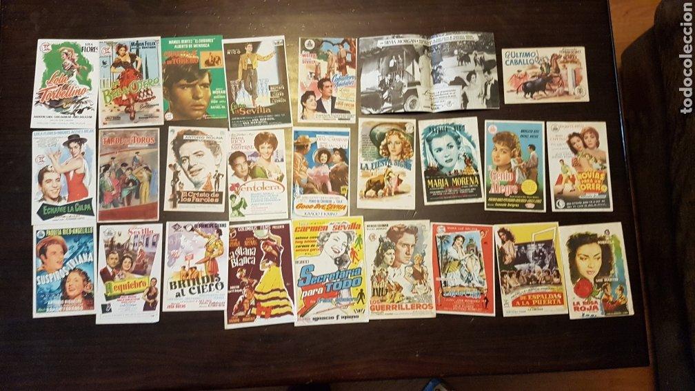PROGRAMAS DE MANO PELÍCULAS ESPAÑOLAS FOLCLÓRICAS (Cine - Reproducciones de carteles, folletos...)