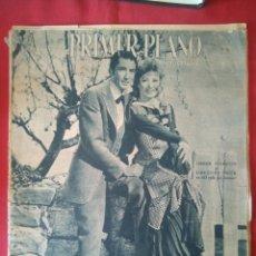 Cine: PRIMER PLANO - Nº 299 - JULIO 1946 - GRER GARSON Y GREGORY PECK EN PORTADA, VALLE DEL DESTINO. Lote 204010550