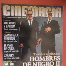 Cine: REVISTA CINEMANIA - Nº 84 - SEPTIEMBRE 2002 - HOMBRES DE NEGRO II, BARDEM, TOM HANKS, URIBE .... Lote 204083266