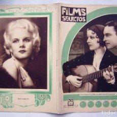 Cine: IMPERIO ARGENTINA . REVISTA FILMS SELECTOS. 1932.. Lote 204222561