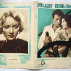 Cine: GARY COOPER . REVISTA FILMS SELECTOS. 1931.. Lote 204223278