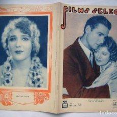 Cine: JANET GAYNOR . REVISTA FILMS SELECTOS. 1931.. Lote 204223996