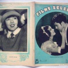 Cine: RAMÓN NOVARRO . REVISTA FILMS SELECTOS. 1931.. Lote 204224138
