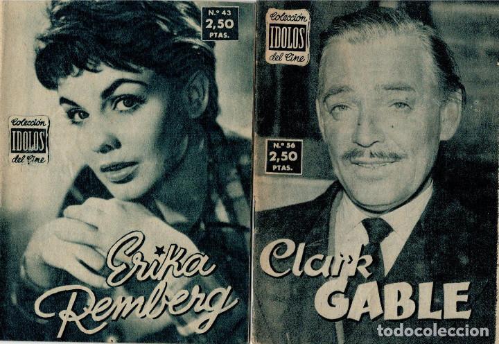 IDOLOS DEL CINE, CLARK GABLE, Nº 56 Y Nº 43 ERIKA REMBERG (Cine - Revistas - Colección ídolos del cine)