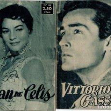 Cine: IDOLOS DEL CINE Nº 44 - VITTORIO GASSMAN - 1958 Y Nº 38 LILIAN DE CELIS. Lote 204333237