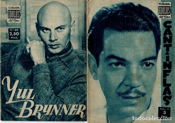 ÍDOLOS DEL CINE Nº 60 YUL BRYNNER Y Nº 64 CANTINFLAS (Cine - Revistas - Colección ídolos del cine)