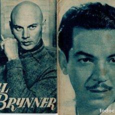 Cine: ÍDOLOS DEL CINE Nº 60 YUL BRYNNER Y Nº 64 CANTINFLAS. Lote 204333721