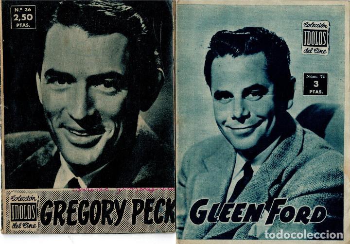 IDOLOS DEL CINE -- GLEEN FORD -- I - Nº 72 - 1958 -- Y Nº 36 GREGORY PECK (Cine - Revistas - Colección ídolos del cine)