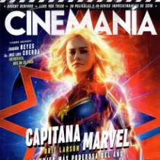 Cine: CINEMANIA N. 280 ENERO 2019 - EN PORTADA: CAPITANA MARVEL - INCLUYE CALENDARIO 2019 (PRECINTADA). Lote 204358130