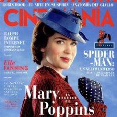 Cine: CINEMANIA N. 279 DICIEMBRE 2018 - EN PORTADA: EL REGRESO DE MARY POPPINS (NUEVA). Lote 204359980