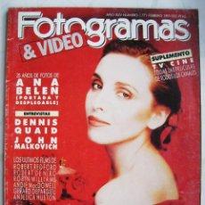Cine: ANA BELÉN. REVISTA FOTOGRAMAS DE 1991.. Lote 204645100