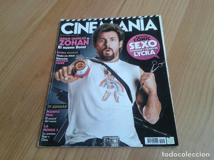 CINEMANÍA -- Nº 155 -- AGOSTO 2008 -- ADAM SANDLER, CELULOIDE OLÍMPICO, MICHAEL CAINE, CÓMIC Y CINE (Cine - Revistas - Cinemanía)