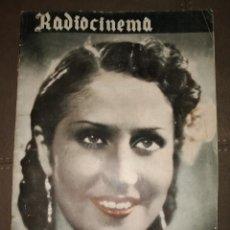Cine: RADIOCINEMA, AÑO II, Nº 34, AÑO DE LA VICTORIA 1939, ENVÍO GRATIS. Lote 204733223