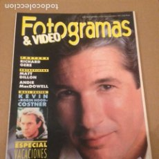 Cinema: REVISTA FOTOGRAMAS Nº 1776 AÑO 1991. RICHARD GERE MATT DILLON. Lote 205303723
