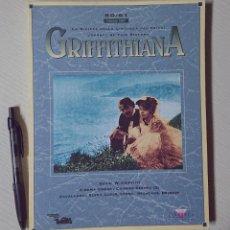 Cine: GRIFFITHIANA · LA RIVISTA DELLA CINETECA DEL FRIULI ·. Lote 205318610