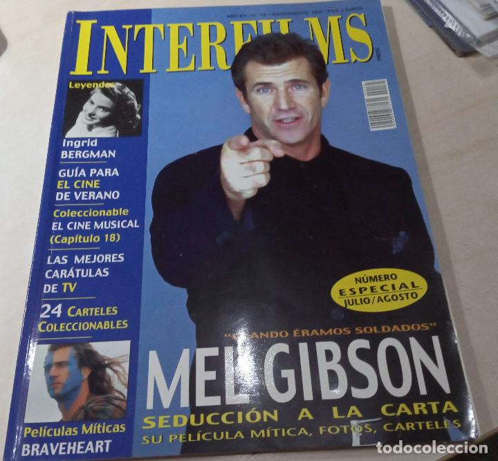 MEL GIBSON BERGMAN BRAVEHEART CINE MUSICAL INTERFILMS Nº 165 2002 (Cine - Revistas - Interfilms)
