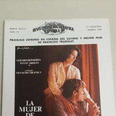 Cine: REVISTA CINEMATOGRÁFICA ESPAÑOLA. CINEINFORME. AÑO 1982. Lote 205576415
