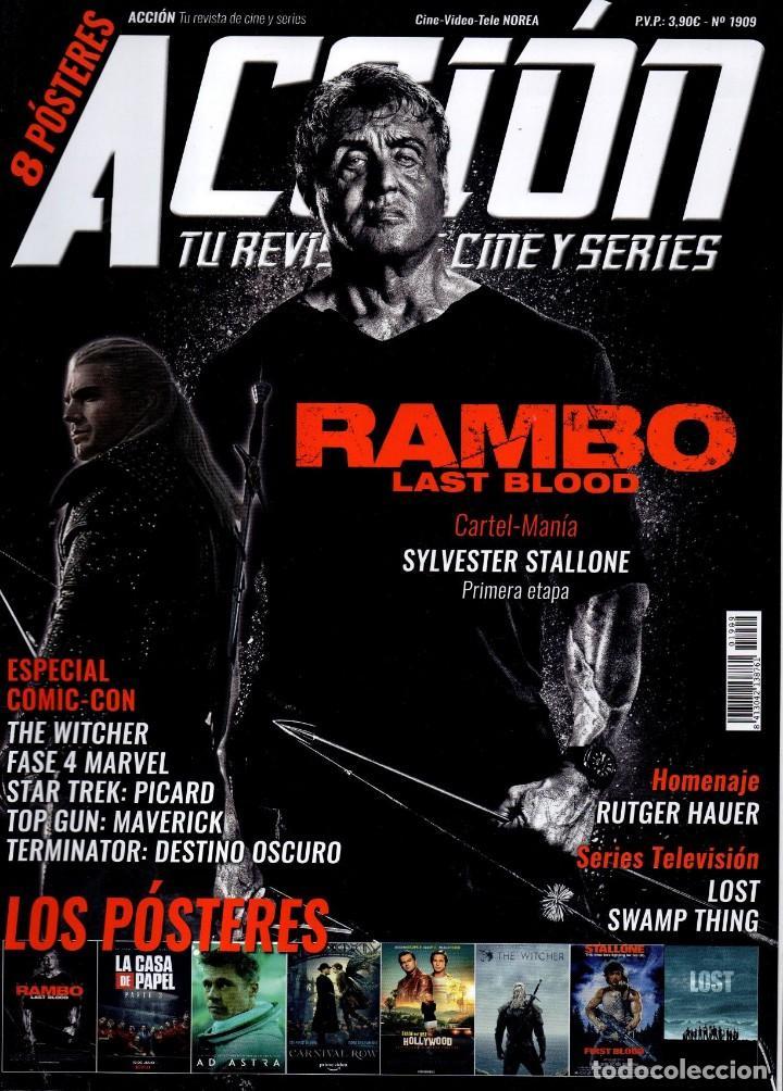 ACCION N. 1909 SEPTIEMBRE 2019 - EN PORTADA: RAMBO, LAST BLOOD (NUEVA) (Cine - Revistas - Acción)